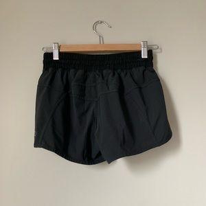 Black Lululemon Running Shorts with Zip Pocket